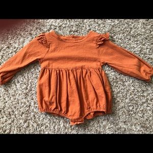 Other - Orange Baby Girl Long Sleeve Onesie